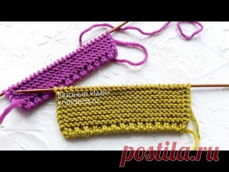 КРАСИВЫЙ И АККУРАТНЫЙ КРАЙ СПИЦАМИ! ПРОСТОЙ СПОСОБ ВЯЗАНИЯ!  Beautiful Border Stitch Pattern!