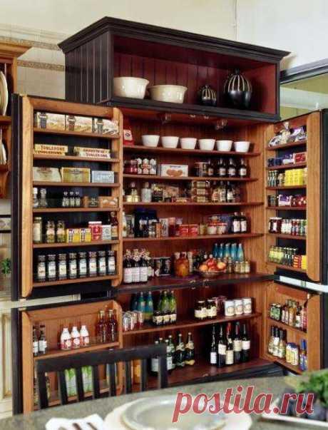 Удобное хранение продуктов на кухне: фото идеи   Люблю Себя