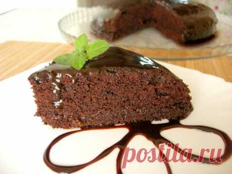 Влажный шоколадный торт без яиц, масла и молока — Кулинарная книга