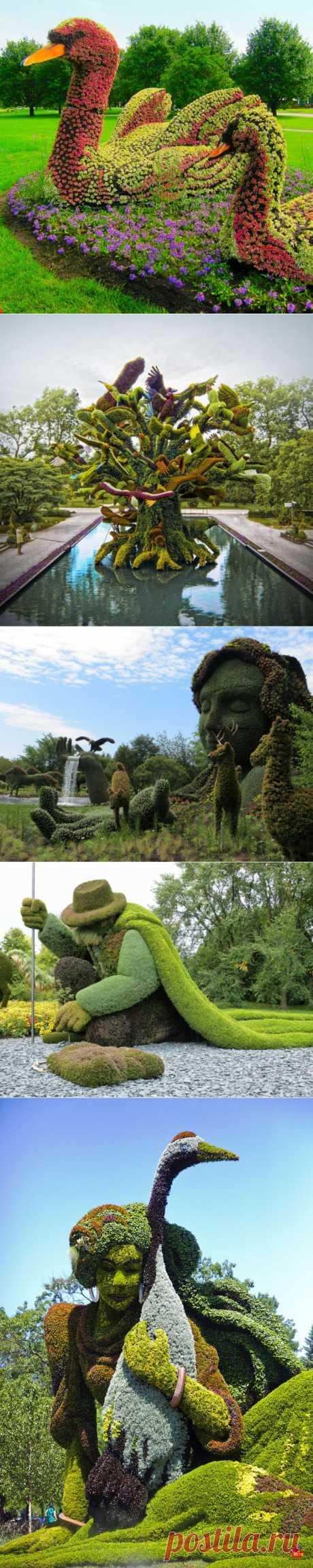 Монументальные скульптуры из растений   Самоцветик