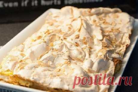 Этот торт покорил весь мир. Привет из Норвегии    Все в восторге!          Ингредиенты: бисквит:100гр муки4 желтка3ст.л молока100гр мягкого масла100гр сахара2 ч.л разрыхлителя1ч.л ванильного сахара меренги:4 белка200гр сахара150 гр миндаля  крем:…