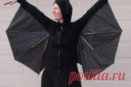 использование старого зонта - карнавальный костюм
