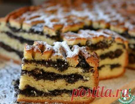 Пирог с маком и изюмом – кулинарный рецепт