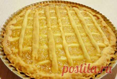 Пирог с лимонной начинкой