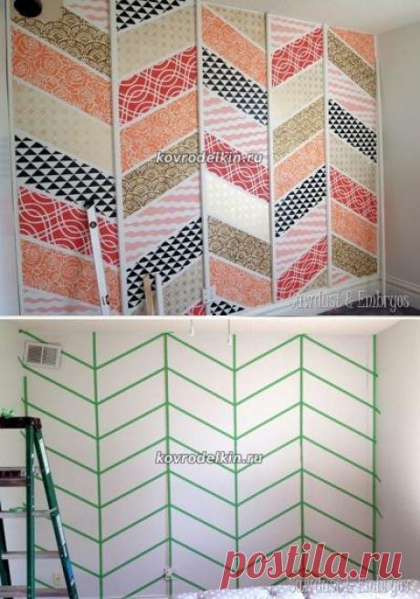 """Расписная 3D-стена в стиле """"пэчворк"""" своими руками — Сделай сам, идеи для творчества - DIY Ideas"""