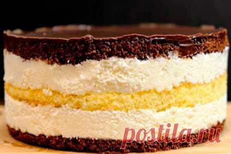 Этот торт не забуду никогда! Торт Птичье молоко с кремом из манки Читать далее...