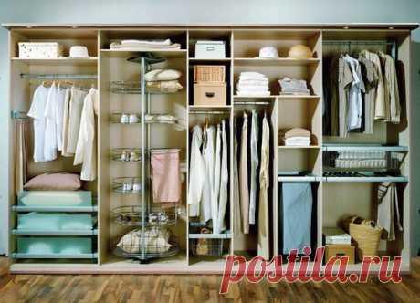 Как организовать хранение вещей в шкафу: варианты наполнения и полезные советы