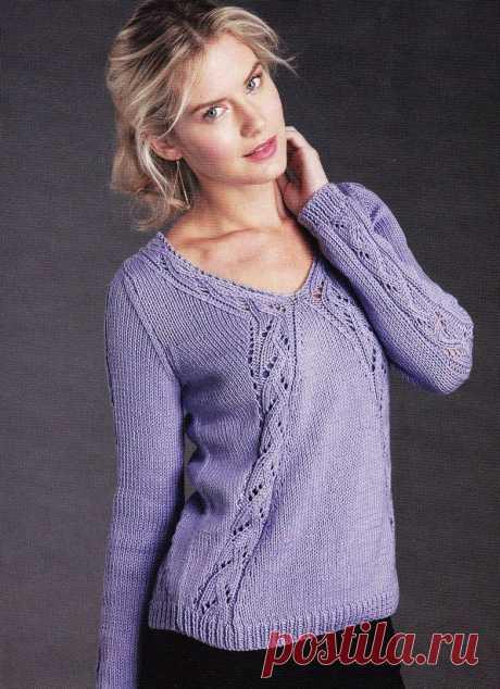 Стильный пуловер спицами - Вязание для всех