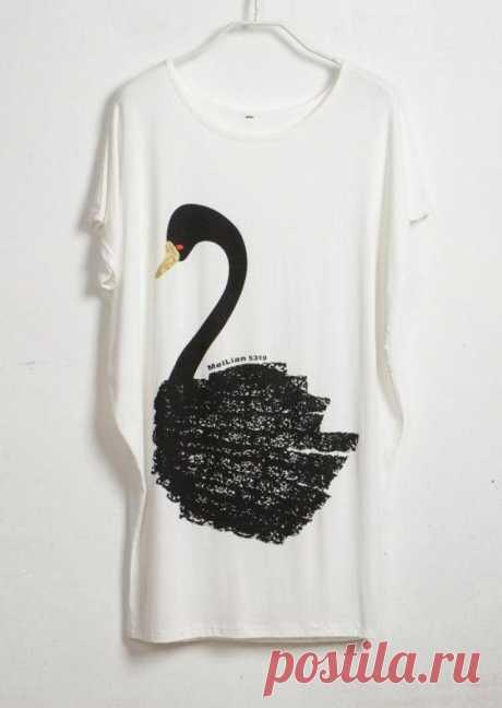 Черный лебедь / Аппликации / Модный сайт о стильной переделке одежды и интерьера