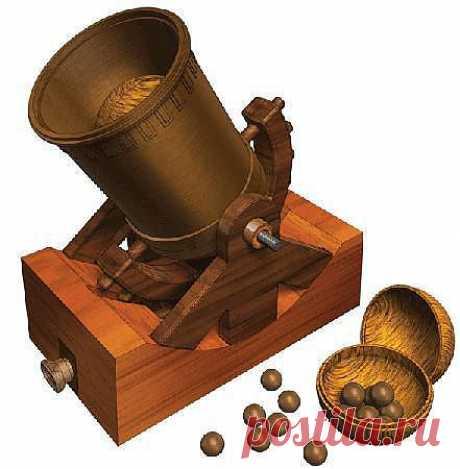 Пушка Леонардо Да Винчи. Чтобы сделать бомбардирование или орудие более эффективными, Леонардо да Винчи разработал разрывные пушечные ядра, которыми стреляет большая пушка.