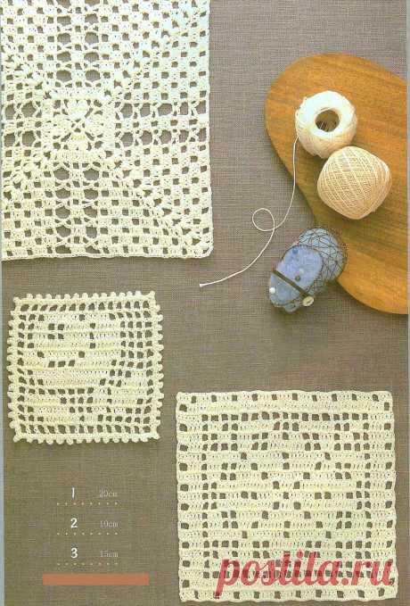 Подборка отдельных мотивов, раскладка в большие изделия (вязание крючком, схемы)   Sana Lace Knit   Яндекс Дзен