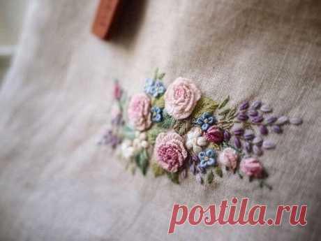 Нежная цветочная вышивка — идеи для вдохновения — HandMade