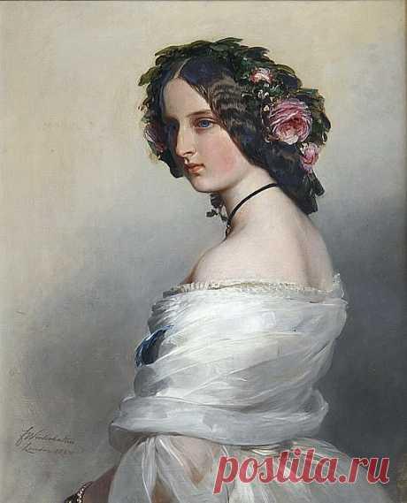 Леди Констанция Левесон-Гоуэр (1834-80), позднее герцогиня Вестминстер (картина) — Франц Ксавьер Винтерхальтер