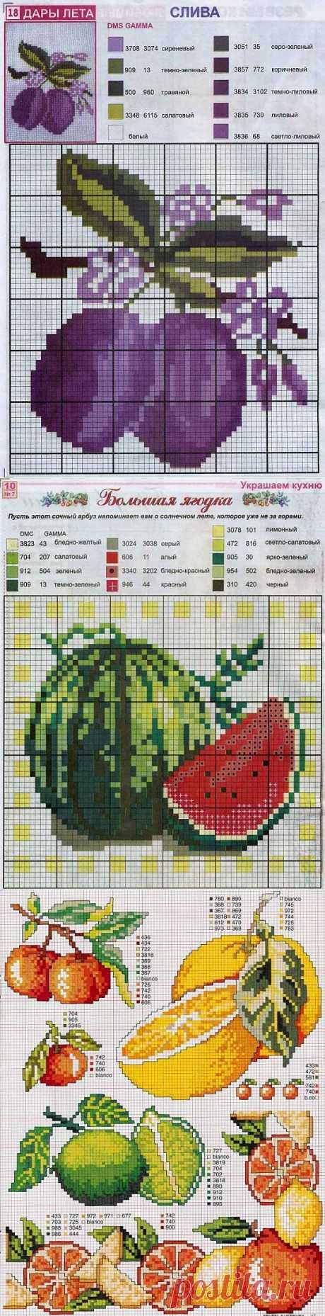 Схемы фруктов / Схемы вышивки крестиком / PassionForum - мастер-классы по рукоделию