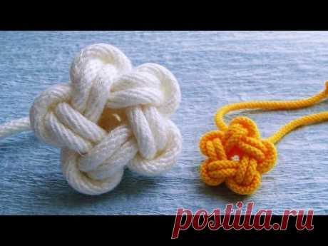 星の形が作れるひもの結び方  スターノット 飾り結び パラコード How to make a Star Knot
