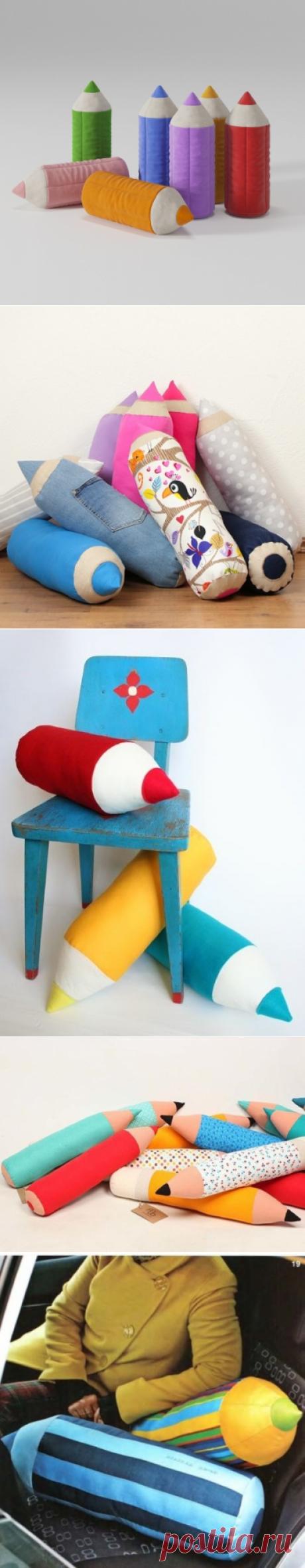 Подушки - карандаши для детской. Выкройка и видео | Домохозяйка