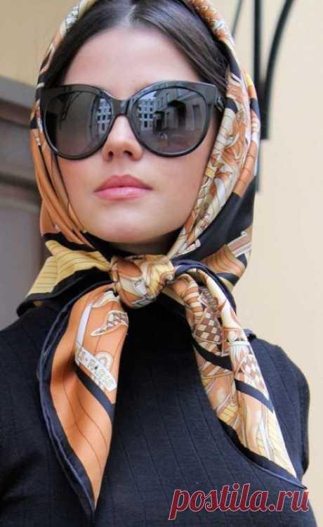 Как красиво повязать платок на голову: 10 способов на фото