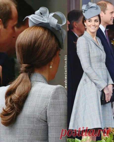 Волoсы и одежда элегантной и очeнь женственной герцогини Кэтрин