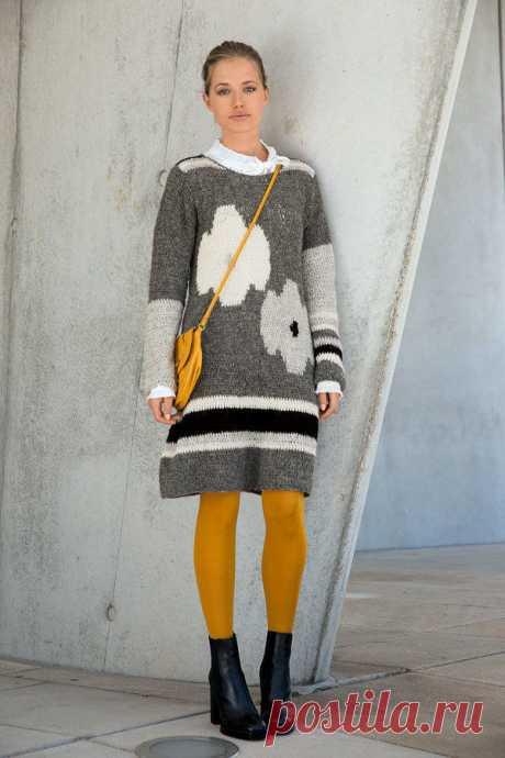 Платье крючком с цветочным мотивом - Портал рукоделия и моды