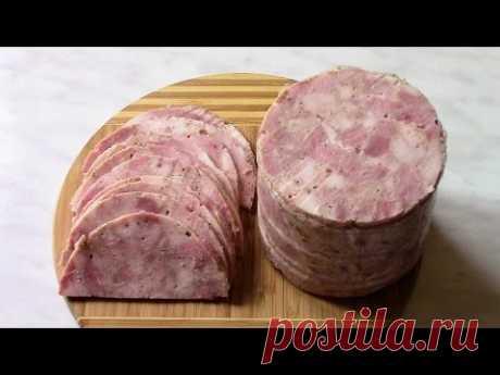 Ветчина ЛАЙТ из куриной грудки и постной свинины . Вкусный рецепт ветчины . - YouTube