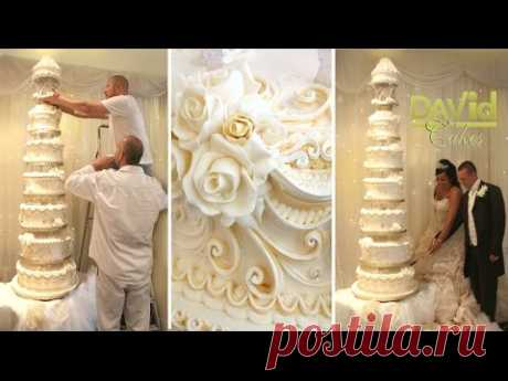CAKE DECORATING TECHNIQUES - ROYAL ICING PIPING IDEAS TUTORIALS - HOW TO DECORATE BIG WEDDING CAKES