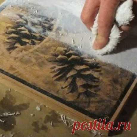 Как перенести рисунок на дерево - винтажная фотокартина | Рукоделие от А до Я | Яндекс Дзен