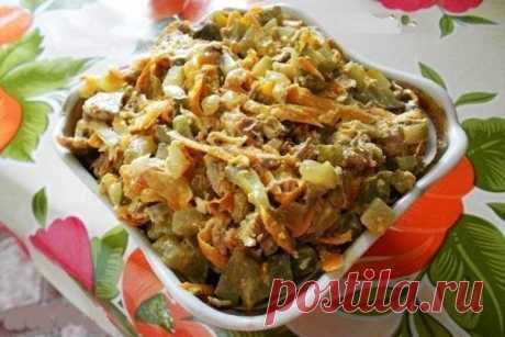 Салат Обжорка – классический рецепт с фото