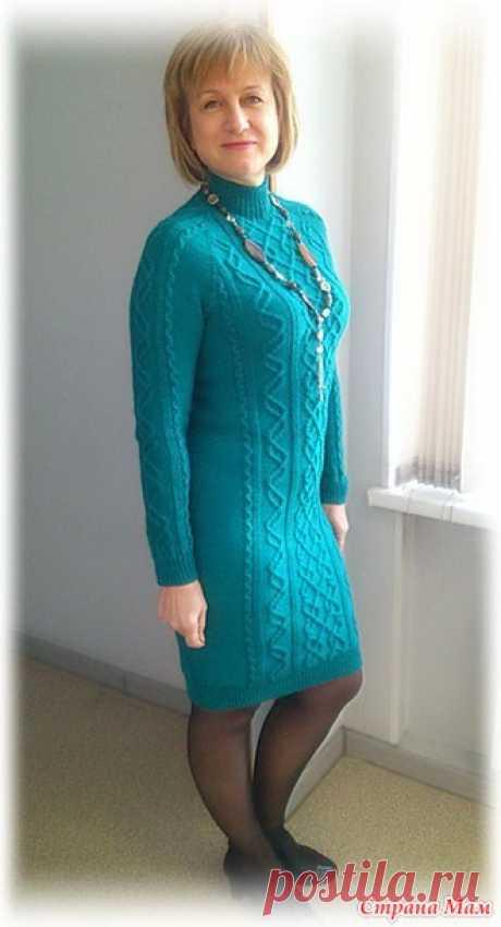 платье спицами косами и аранами схемы