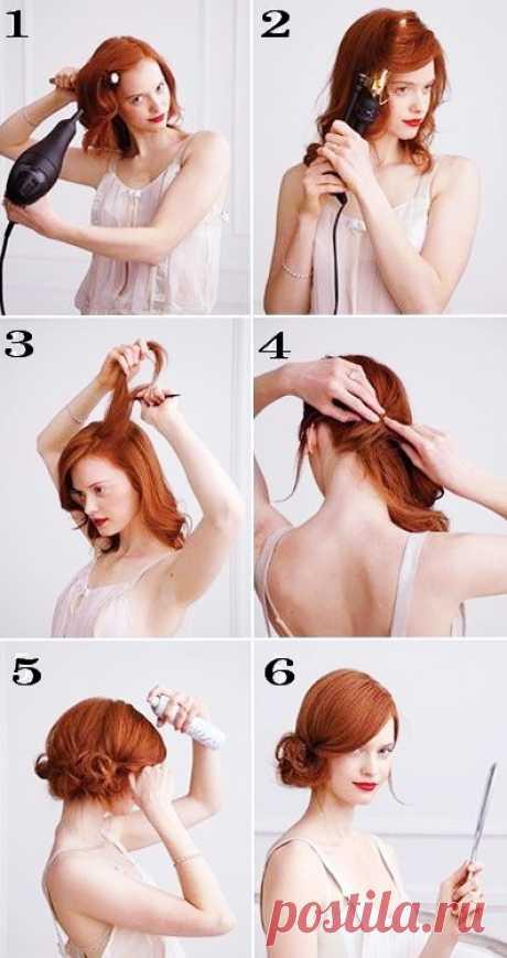Пошаговые прически на средние волосы - фото поэтапно   ВолосОК