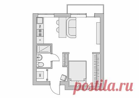 Как сделать двухкомнатную квартиру из однокомнатной — Роскошь и уют