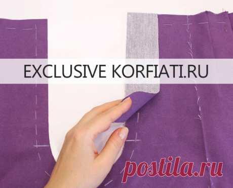 Обработка гульфика в женских брюках от Анастасии Корфиати