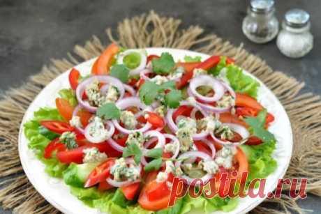 Потрясающе вкусный грузинский салат с ореховой заправкой - Счастливый формат