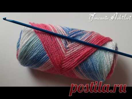 Tunus işi Görünce hemen deneyeceksiniz çok kolay Bebek Yelek örgü modelleri crochet knitting