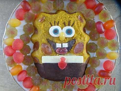 Торт Спанч Боб без выпечки рецепт с фото пошагово - 1000.menu