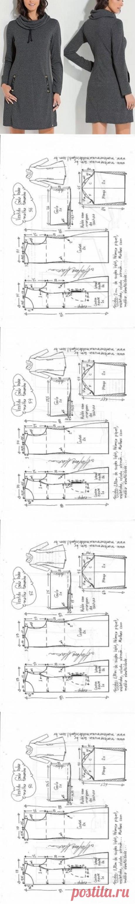 Шелковый воротник для трикотажа - DIY - плесень, порез и шов - Marlene Mukai