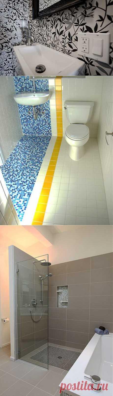 Идеи для экономии места в крошечных ванных комнатах | МОЯ КВАРТИРА