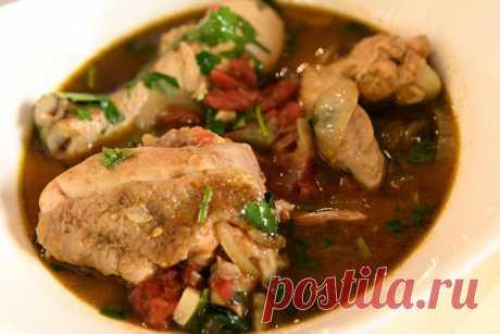 Чахохбили - рагу из курицы с овощами. Рецепт для мультиварки
