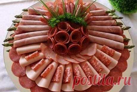 Красивые нарезки на праздничный стол: фото-идеи оформления нарезок на любой вкус