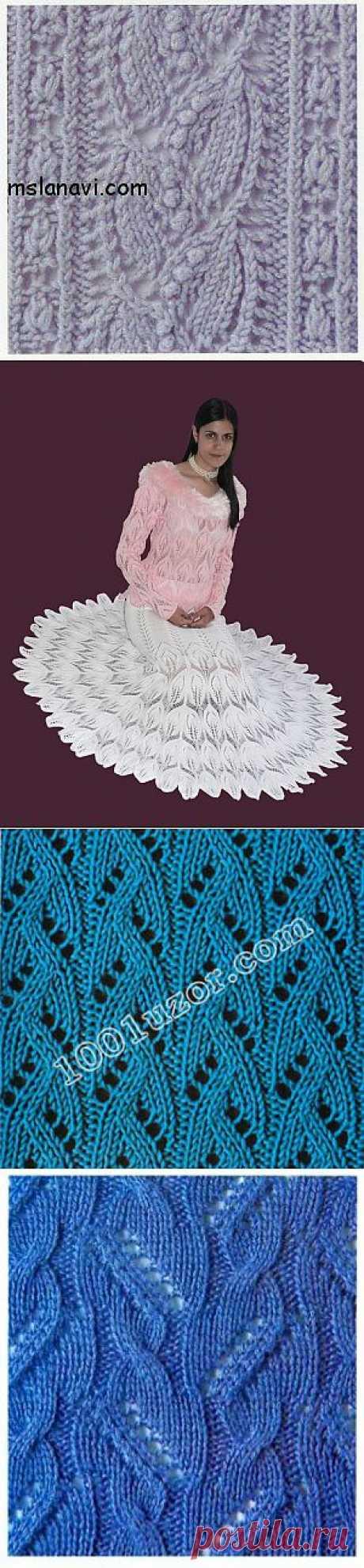 Узоры для вязания спицами. Подборка.