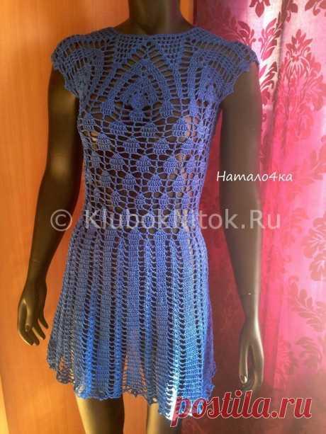 Бразильское синее платье | Вязание для женщин | Вязание спицами и крючком. Схемы вязания.