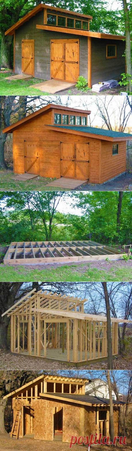 Красивый сарай — удобный хозблок — мечта любого дачника | Мои Идеи Для Дачи и Сада