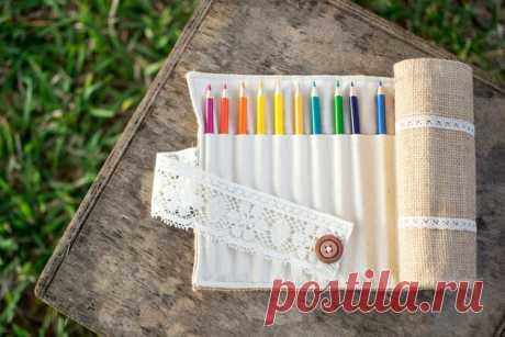 Пенал для карандашей своими руками — Мастер-классы на BurdaStyle.ru