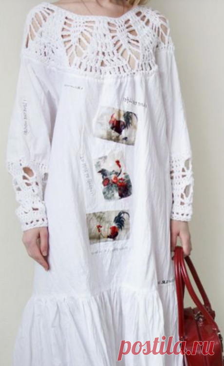 20 идей переделки старых вещей в модные- соединяем вязание и ткань. | Провинциалка в теме | Яндекс Дзен