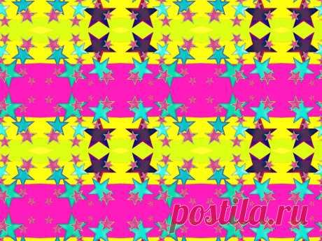 Бесшовный геометрический орнамент со звёздами.  --- Nahtlose Muster mit Sternen  Kostenloses Stock Bild HD - Public Domain Pictures