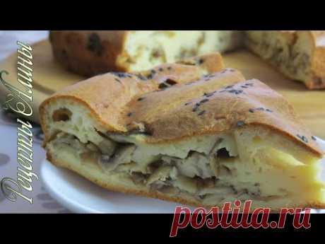 Рецепты Алины. Обалденный грибной пирог с очень нежным тестом. - YouTube