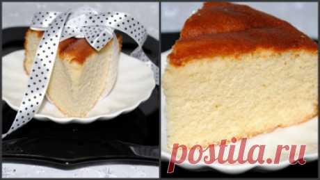 Бисквит на горячем молоке (простой) : Выпечка сладкая