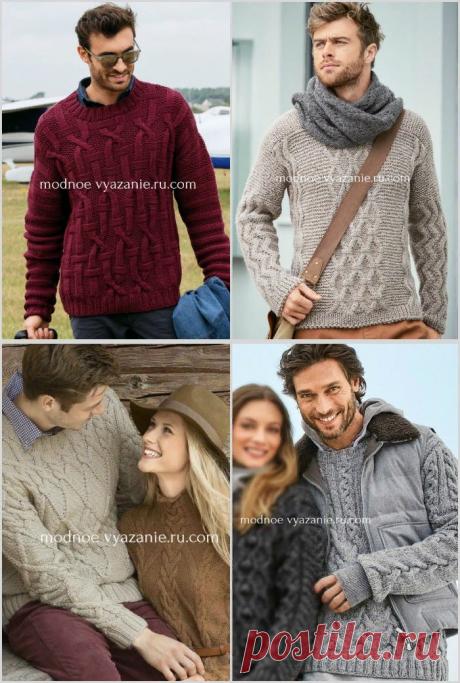 Подборка вязаных пуловеров спицами для мужчин - Klubok - Modnoe Vyazanie.ru.com