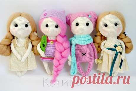 Amigurumi Сладкие куклы-Free Pattern - Amigurumi бесплатные шаблоны