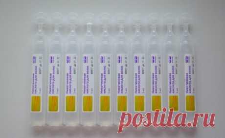 Никотиновая кислота для волос для роста и укрепления: способы применения, противопоказания, плюсы и минусы