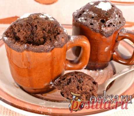 Мега шоколадные кексы в микроволновке за 5 минут фото рецепт приготовления